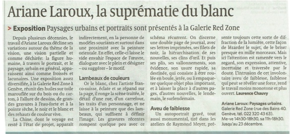 Article Le Temps 3 déc. 2013