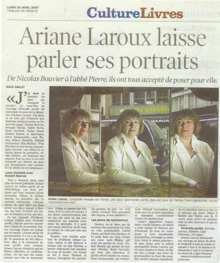 Ariane Laroux Portraits parlés